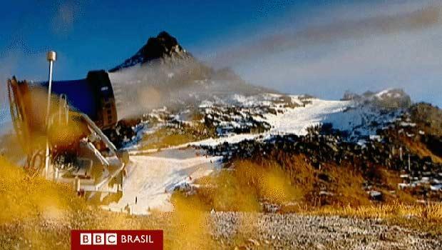 Falta de neve preocupa indústria do esqui nos alpes austríacos (Foto: BBC)