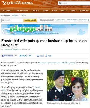 Esposa coloca marido para vender em site de anúncios (Foto: Reprodução)