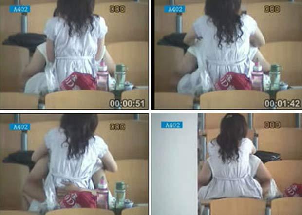 Em maio de 2011, um casal de estudantes foi filmado fazendo sexo em uma faculdade de Hebei, na China. A dupla teria aproveitado a hora do almoço para manter relações sexuais em plena sala de aula.  (Foto: Reprodução)