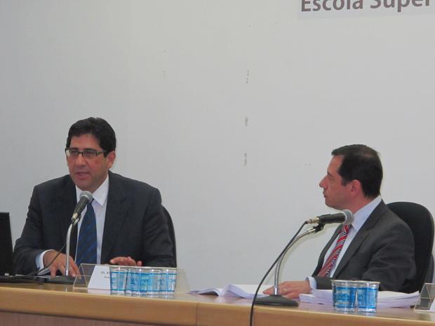 Promotores falam sobre pedido de afastamento de Kassab (Foto: Roney Domingos/ G1)