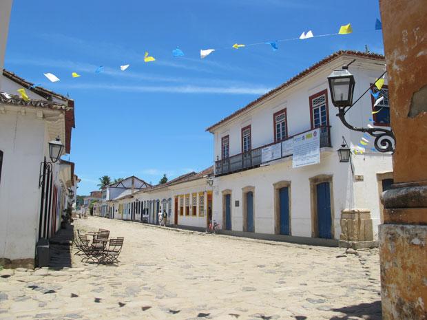 O centro histórico de Paraty é o grande charme da cidade (Foto: Carolina Lauriano / G1)
