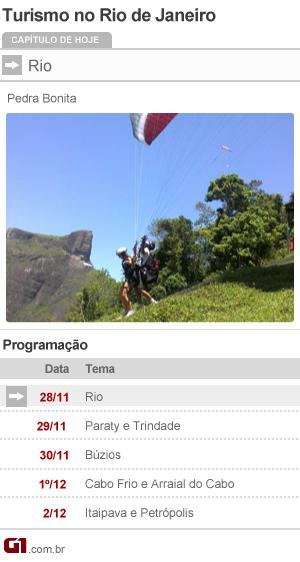 Série Turismo Rio de Janeiro programação (Foto: Editoria de Arte/G1)