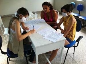 Sala do hospital é reservada para controle de notificações  (Foto: Elias Bruno/ G1 Ceará)