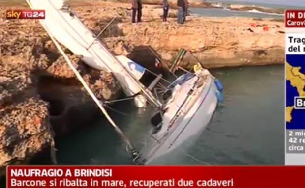 Ao menos três pessoas morreram e dezenas foram resgatadas. (Foto: Reprodução/SkyTG24)