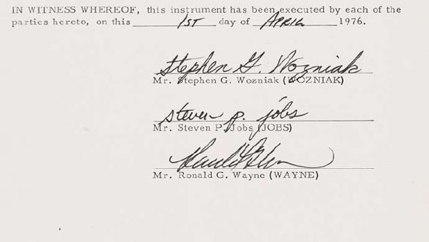 Sotheby's divulgou imagens do contrato que será leiloado  (Foto: Reprodução/Sotheby's)