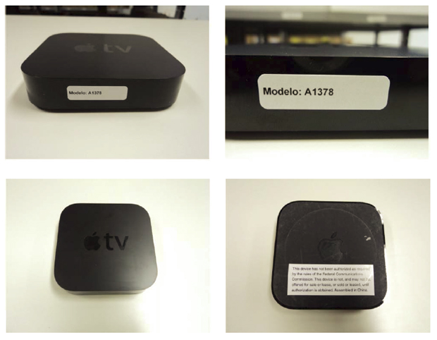 Fotos da Apple TV feitas pela Anatel e anexadas ao certificado de homologação (Foto: Reprodução)