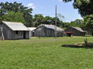 casas de aldeia indigena umutina em Mato Grosso (Foto: Ericksen Vital / G1)