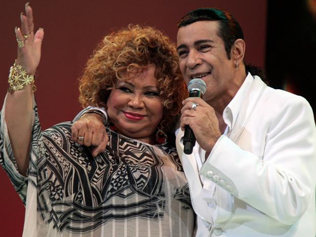 Elymar Santos lança o disco 'Elymar canta Marron', em homenagem aos 40 anos de Alcione, que participa do disco (Foto: Divulgação)