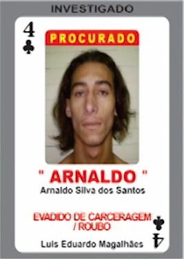 Quatro de paus do baralho do crime (Foto: Reprodução TV Bahia)