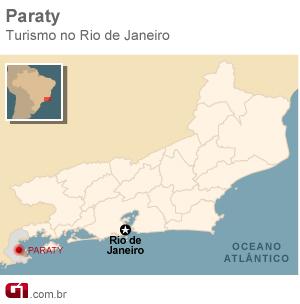 Mapa Paraty (Foto: Arte/G1)
