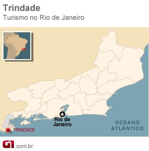 Mapa Trindade (Foto: Arte/G1)