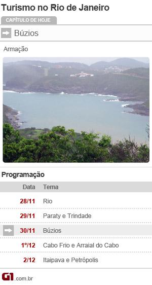 Calendário de Búzios (Foto: Arte/ G1)