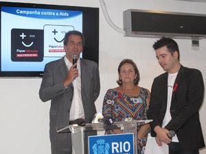 Hans Dohmann, Lucinha Araújo e Carlos Tufvesson (Foto: Lilian Quaini/G1)