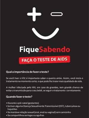 """Folheto da campanha """"Fique Sabendo"""" (Foto: Divulgação/Prefeitura )"""