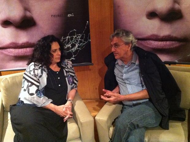 Gal Costa e Caetano Veloso durante coletiva de imprensa do álbum 'Recanto' (Foto: Flávio Seixlack/G1)