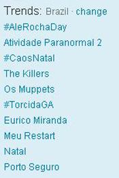 Trending Topics no Brasil às 17h17 (Foto: Reprodução)