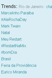 Trending Topics no Rio às 17h35 (Foto: Reprodução)