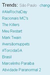 Trending Topics em SP às 17h48 (Foto: Reprodução)