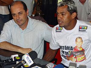 Cícero Souza e Marcelinho Paraíba (Foto: Katherine Coutinho / G1)