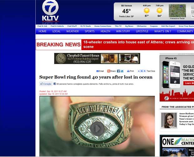 Americano recupera anel 40 anos depois de perdê-lo no mar do Havaí (Foto: Reprodução)