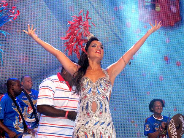 Rainha  ainda não sabe como será sua fantasia para 2012 (Foto: Rodrigo Vianna / G1)