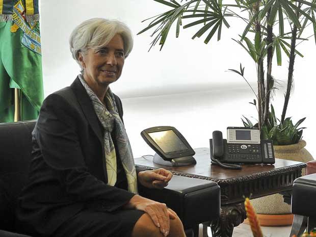 Diretora-gerente do Fundo Monetário Internacional (FMI), Christine Lagarde, em Brasília nesta quinta-feira (1º) (Foto: Agência Brasil)
