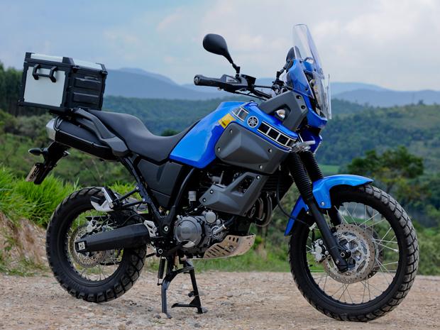 Visual da Ténéré remete às motos de rali (Foto: Raul Zito/ G1)