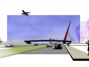 Ponte estaiada vai ficar na Av. das Torres (Foto: Divulgação/Prefeitura de Curitiba)