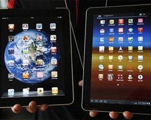 Apple diz que o Galaxy Tab 10.1 (à direita) copia o iPad (Foto: Jo Yong-Hak/Reuters)