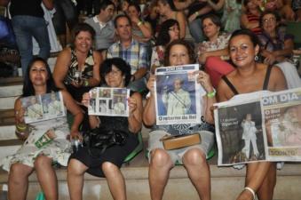 Show do Rei Roberto Carlos em São José do Rio Preto (Foto: Natália Clementin / G1)