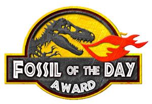 Símbolo do 'Fóssil do Dia' é inspirado no filme 'Parque dos Dinossauros'. (Foto: Divulgação)