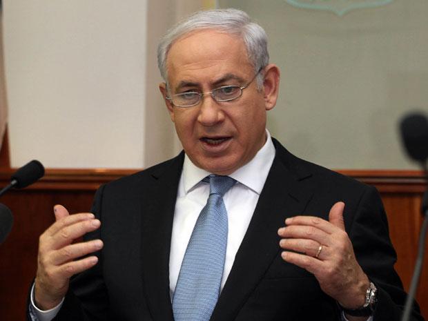 Primeiro-ministro de Israel, Benjamin Netanyahu, participa de reunião mensal de gabinete neste domingo (4) (Foto: AP)