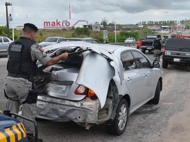 Zé Lezin se envolve em acidente na BR-230 em João Pessoa (Foto: Walter Paparazzo/G1)