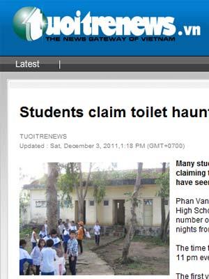 Alunos desmaiam em escola no Vietnã por 'fantasmas' no banheiro (Foto: Reprodução)