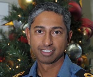 James Desmond, da equipe de cuida do rastreamento do Papai Noel na Norad (Foto: Divulgação)