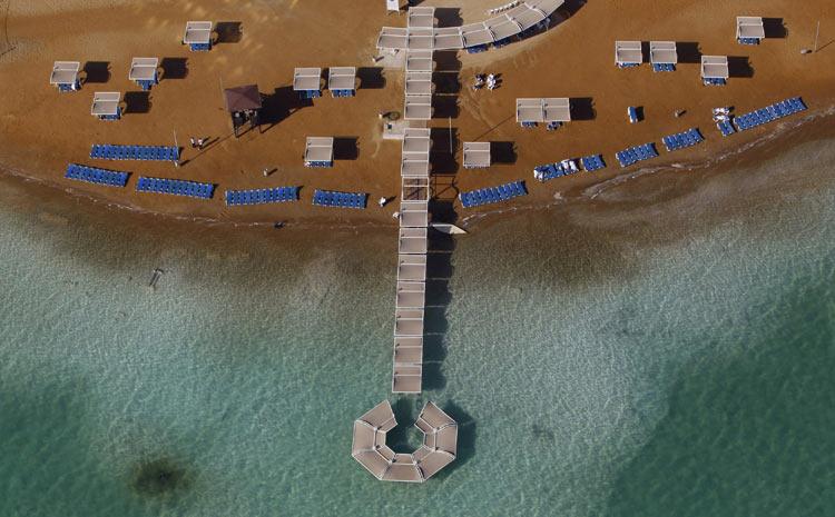 Imagens aéreas do Mar Morto (Foto: Baz Ratner/Reuters)