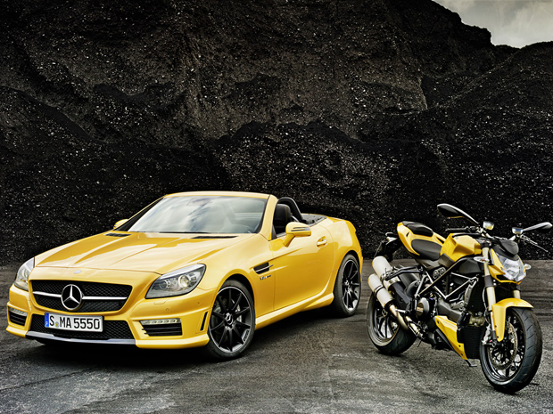 Parceria da Mercedes-Benz e da Ducati come&#231;ou em novembro de 2010 (Foto: Divulga&#231;&#227;o)