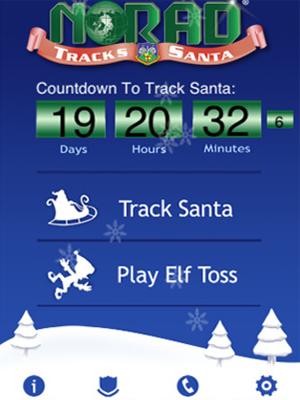 Aplicativo da Norad faz contagem regressiva para o início do rastreamento do Papai Noel (Foto: Reprodução)