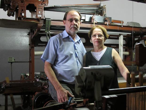 Odair e Cleonice Pistolato, donos da Cleonice Indústria Têxtil, em Americana (Foto: Anay Cury/G1)
