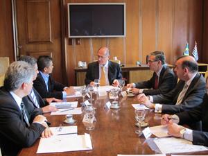 Alckmin se reúne com representantes do setor de motos (Foto: Juliana Cardilli/G1)