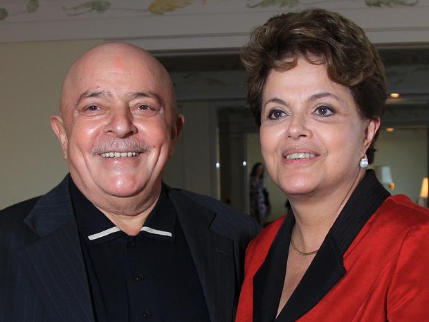O ex-presidente Luiz Inácio Lula da Silva e a presidente Dilma Rousseff em São Paulo, nesta terça (6) (Foto: Ricardo Stuckert/Instituto Cidadania)