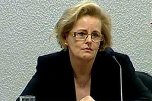 A nova ministra do STF Rosa Weber em sabatina no Senado (Foto: Reprodução / TV Senado)