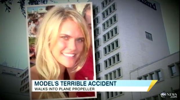 A modelo Lauren Scruggs, de 23 anos, teve uma mão decepada ao esbarrar na hélice de um monomotor (Foto: Reprodução/ABC News)