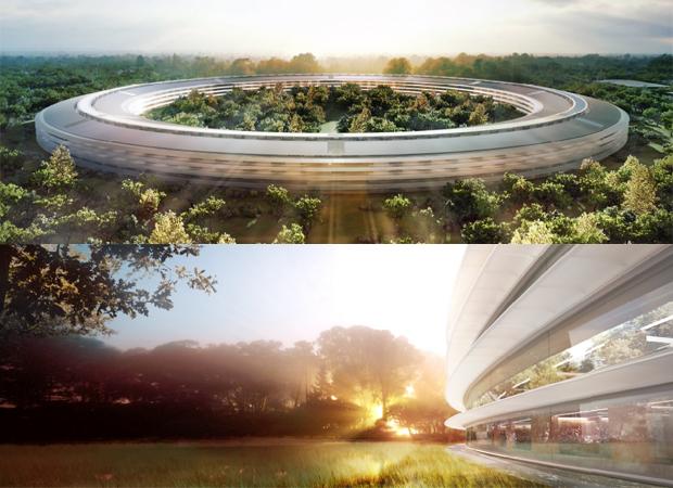Apple fez algumas projeções de como deve ficar seu novo campus em Cupertino (Foto: Reprodução)