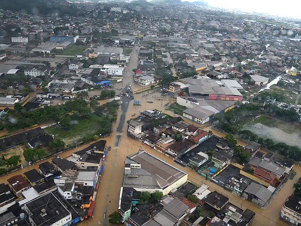 Região da Grande Cobilândia é a mais afetada pelas chuvas em Vila Velha, no ES (Foto: Divulgação/PMVV)