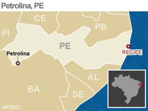 mapa petrolina (Foto: Editoria de Arte/G1)