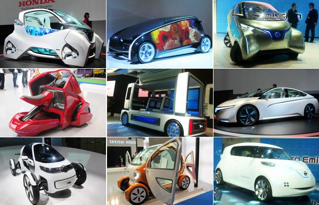 carros futuristas salão de tóquio (Foto: Luciana de Oliveira/G1)