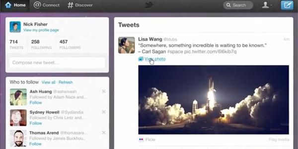 Novo design do Twitter (Foto: Reprodução)