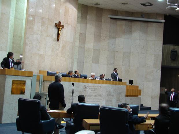 Plenário da Câmara de SP (Foto: Roney Domingos/ G1)