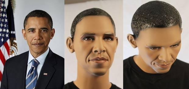 Manequins são inspirados no presidente dos EUA, Barack Obama. (Foto: Reprodução/Las Vegas Mannequins)